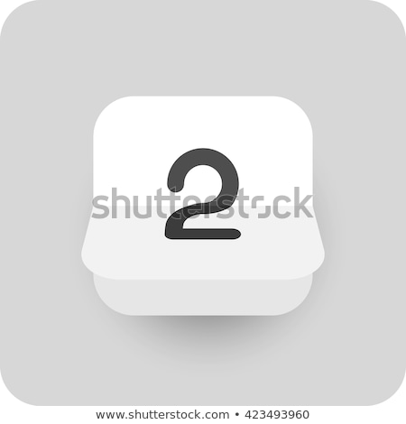 Simple black calendar icon with 2 august date isolated on white Stock photo © evgeny89