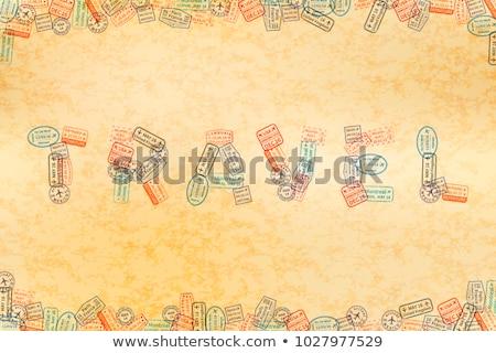 Immigratie woord reizen oud papier oude Stockfoto © evgeny89
