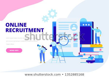 Online Recruitment vector illustration concept, businessman analyzing resume Stock photo © natali_brill