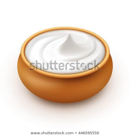 Jogurt mleczarnia krem domowej roboty deser żywności Zdjęcia stock © pikepicture