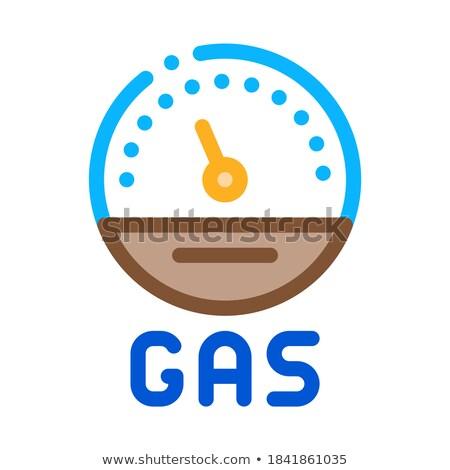 エンジン ガス インジケータ アイコン ベクトル ストックフォト © pikepicture