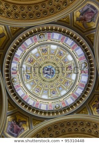 Cúpula católico catedral dentro pintura Budapest Foto stock © artjazz