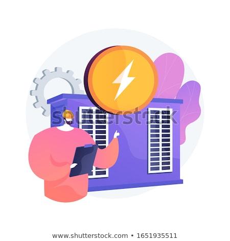 Power station, electrical energy generation, electricity production vector concept metaphor. Stock photo © RAStudio