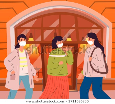 People don t keep a safe distance during virus pandemia in public place, infected with carrier Stock photo © robuart