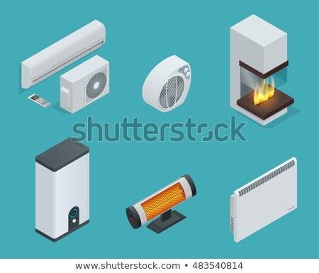 Casa água radiador aquecimento equipamento isométrica Foto stock © pikepicture