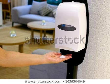 Sanitation station for cleaning of hands. Stock photo © Margolana