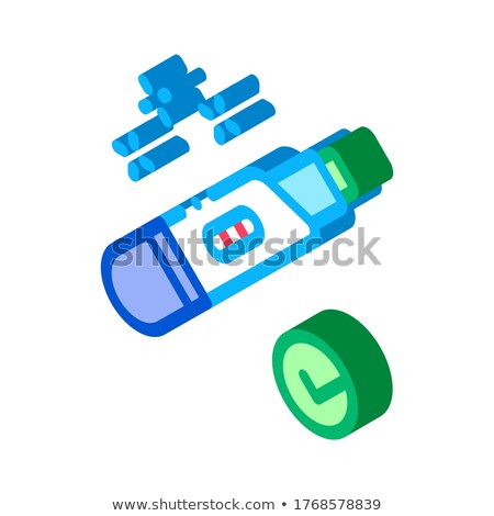 Positive Pregnancy Test isometric icon vector illustration Stock photo © pikepicture