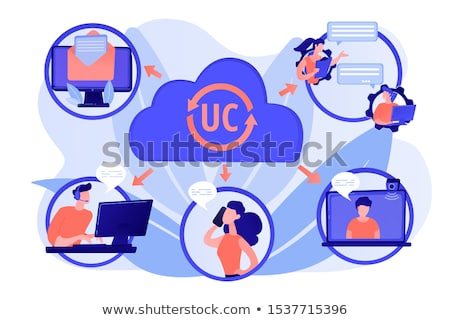 Unified communication abstract concept vector illustration. Stock photo © RAStudio