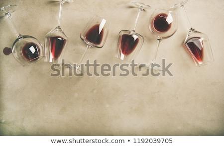 şarap bardakları tablo boş uzun restoran cam Stok fotoğraf © varlyte