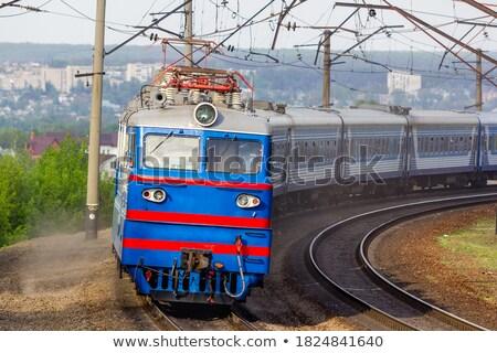 Kolej żelazna utwór technologii pociągu przemysłu Zdjęcia stock © joyr