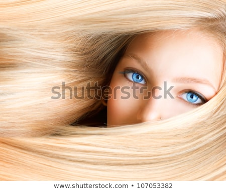 Mooie blond vrouw portret Rood Stockfoto © aladin66