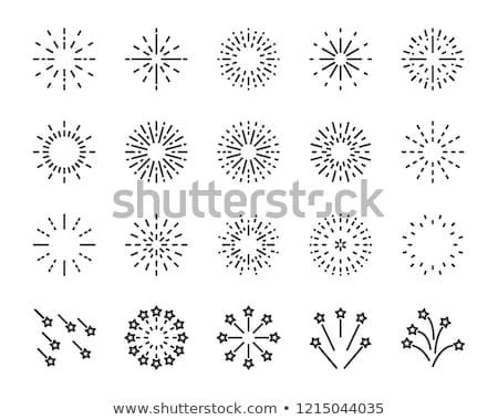 vetor · colorido · fogos · de · artifício · branco · feliz · abstrato - foto stock © orson