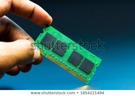 Stock photo: memory module with gradient to black