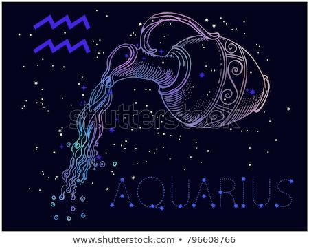 Black Zodiacs aquarius Stock photo © cidepix