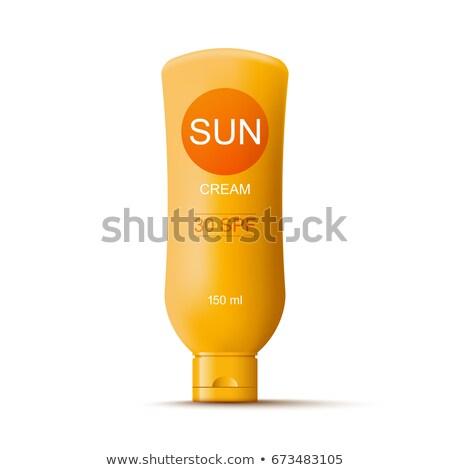 Sonne Sahne Vektor Sommer spa Container Stock foto © kraska