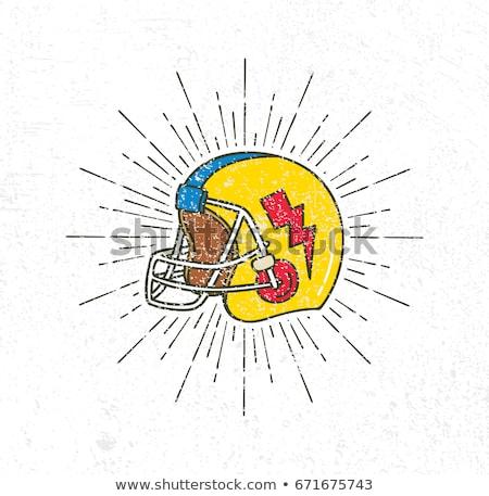 サッカー ヘルメット ベクトル 画像 スポーツ レストラン ストックフォト © damonshuck