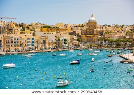 Foto stock: Vista · barrio · antiguo · Malta · puerto · edificios · urbanas