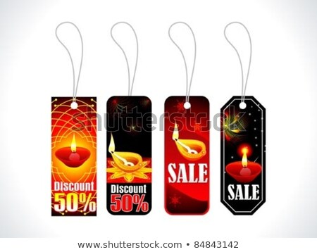 absract colorful diwali tags multiple set Stock photo © pathakdesigner