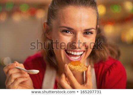 woman tasting marmalade stock photo © photography33