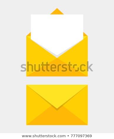 sarı · mektup · kâğıt · zarf · iletişim - stok fotoğraf © devon