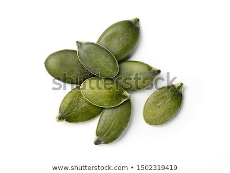 Dynia nasion świeże odizolowany biały żywności Zdjęcia stock © Pakhnyushchyy
