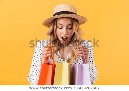肖像 年輕 興奮 漂亮的女人 常設 商業照片 © HASLOO