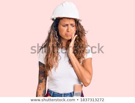 Construtor dolorido cabeça trabalhar triste trabalhador Foto stock © photography33