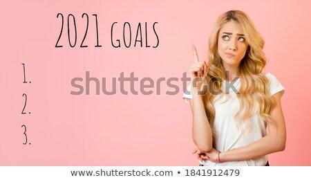 Nő haj szépség fiatal szél mágikus Stock fotó © konradbak