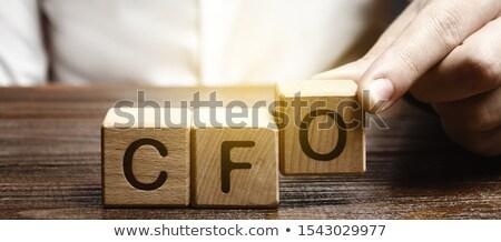 siglas · jefe · financieros · oficial · escrito · tiza - foto stock © bbbar