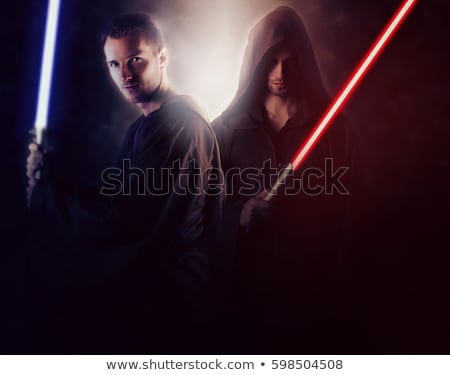 man with a light sword stock photo © bmwa_xiller