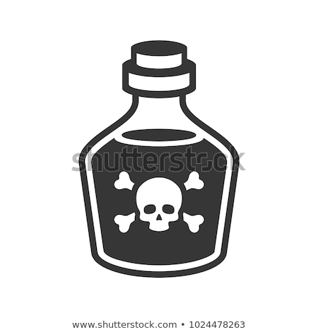 Poison Skull and Crossbones Symbol on Medicine Bottle Stock photo © iqoncept