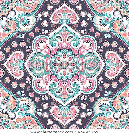 colorato · floreale · senza · soluzione · di · continuità · vettore · pattern · primavera - foto d'archivio © isveta