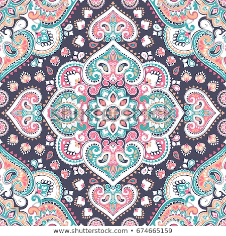 Colorful floral medallions. Seamless vector pattern Stock photo © isveta