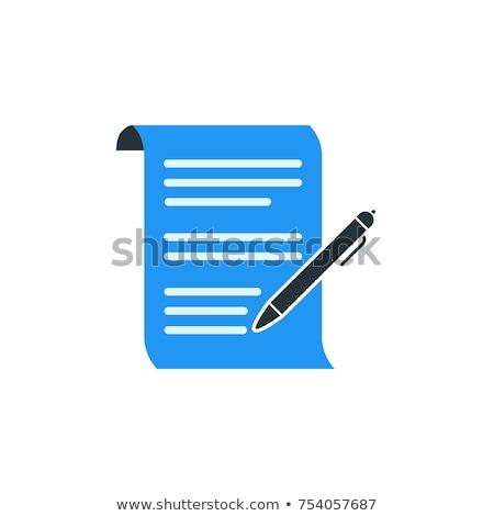 набор бумаги иконки синий улыбка домой Сток-фото © AnnaVolkova
