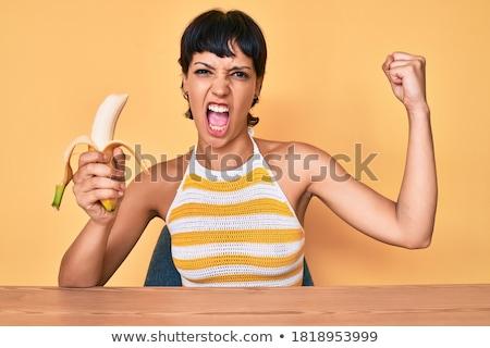 голодающий · сексуальная · женщина · еды · банан · девушки · улыбка - Сток-фото © feedough