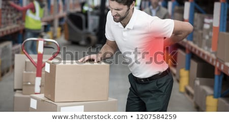 man having backache Stock photo © smithore