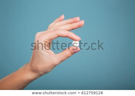 hand with a pill stock photo © stevanovicigor
