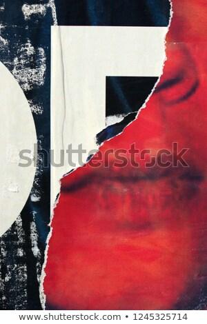 man with torn wallpaper Stock photo © sirylok
