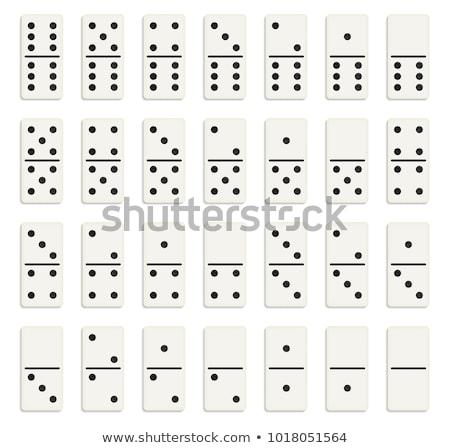 белый · Domino · змеи · играть · игры · построить - Сток-фото © pzaxe