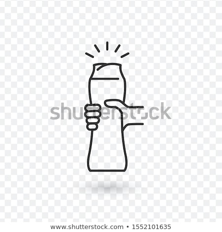 a ketchup squirt bottle in a persons hand on white stock photo © ozaiachin
