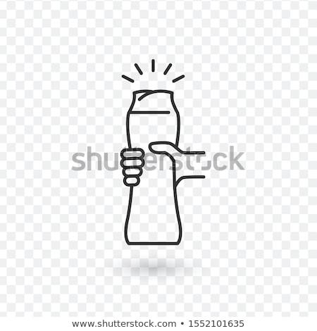 Ketchup garrafa pessoas mão branco restaurante Foto stock © ozaiachin