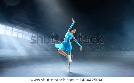 desenho · animado · patinador · menina · mulher · projeto · arte - foto stock © lenm