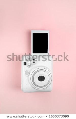 Starych natychmiastowy analog film kamery biały Zdjęcia stock © vankad