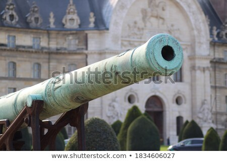 ancient cannons museum at les invalides in paris stock photo © rglinsky77