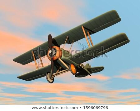 polgári · légi · közlekedés · repülőgép · kék · utazás · repülőgép - stock fotó © elenarts