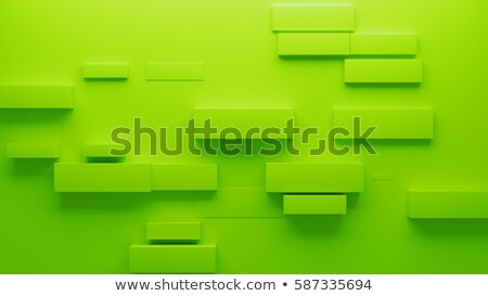 block of light green cube with drop shadow Stock photo © experimental