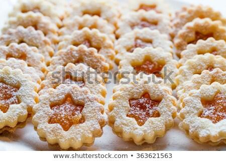 масло Cookies прямой линия продовольствие кухне Сток-фото © haiderazim