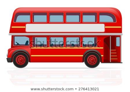 Londra çift kırmızı otobüs seyahat bağbozumu Stok fotoğraf © leonido