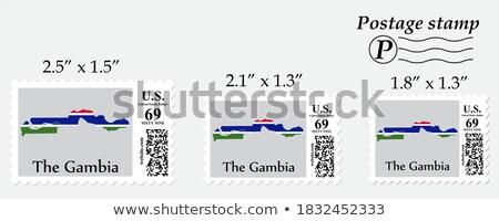 メール ガンビア 画像 スタンプ 地図 フラグ ストックフォト © perysty