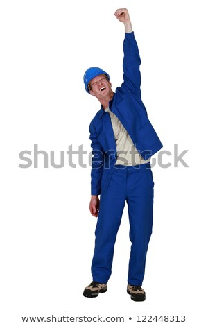 Manual worker raised clenched fist in the air Stock photo © photography33